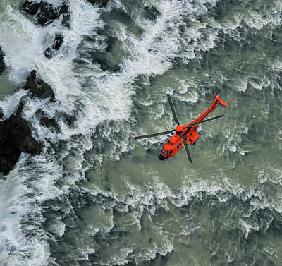 Photograph - Helicopter Flying Over Waterfalls by Arctic-images
