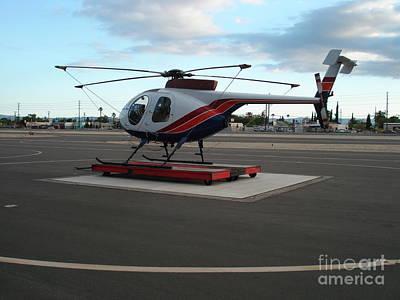 Whiteman Airport Photograph - Helicopter Getaway by Linda De La Rosa