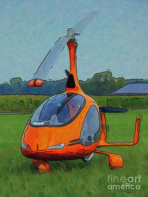 Photograph - Helicopter by Jutta Maria Pusl