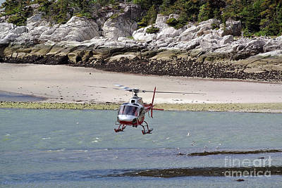 Photograph - Helicopter Landing In Skagway by Gena Weiser