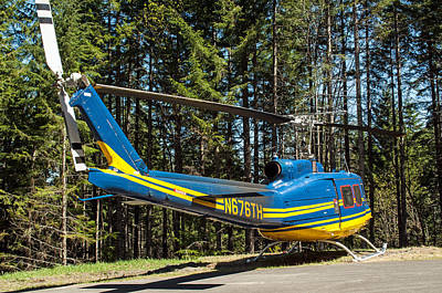 Photograph - Helicopter On Side Of Mountain by Tikvah's Hope