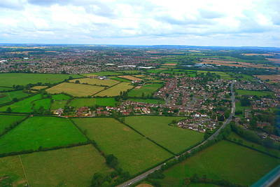 Photograph - Helicopter-view Of An English Countryside by Denise Mazzocco