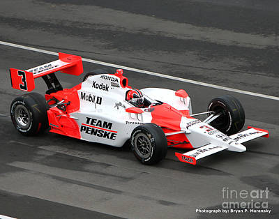 Indycar Photograph - Helio Castroneves Indy by Bryan Maransky