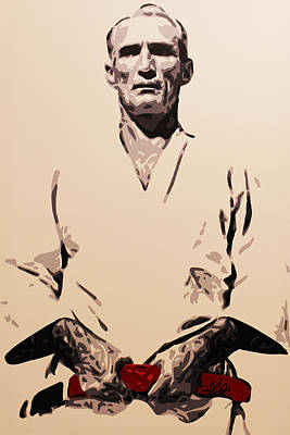 Painting - Helio Gracie by Geo Thomson