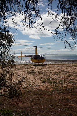 Photograph - Heliport On The Sand by Carole Hinding