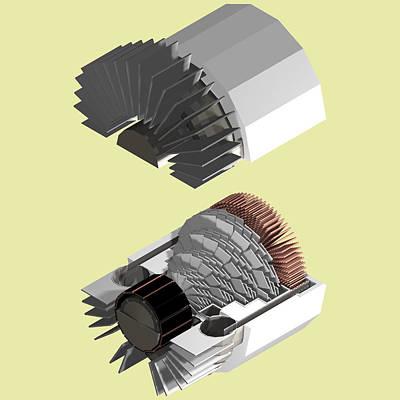Helium Turbine Engine Original by Chris  Morton