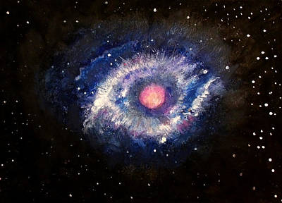 Drawing - Helix Nebula by Angela Stout