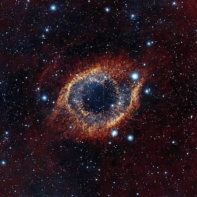 Planetary Nebula Photograph - Helix Nebula by Eso/vista/j. Emerson. Acknowledgment: Cambridge Astronomical Survey Unit