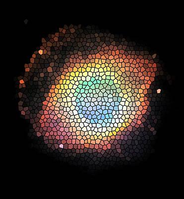 Mosaic Mirrors Photograph - Helix Nebula Mosaic by Jennifer Rondinelli Reilly - Fine Art Photography