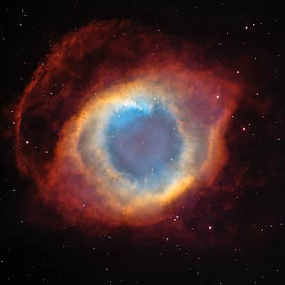 Photograph - Helix Nebula by Celestial Images