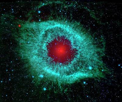 Helix Nebula Art Print by Nasa/jpl-caltech/univ.of Ariz.