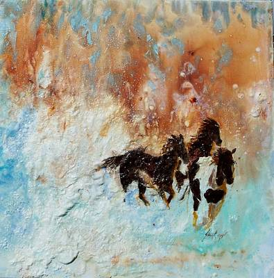 Impressionist Mixed Media - Hell Bent For Home by Sylvia Morgan