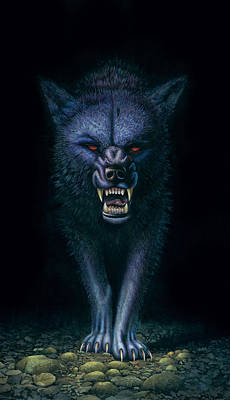 Aggressiveness Photograph - Hell Hound by MGL Studio - Chris Hiett
