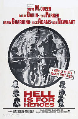 Films By Don Siegel Photograph - Hell Is For Heroes, Us Poster, Left by Everett