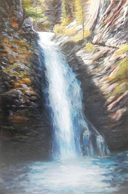 Painting - Hell Roaring Falls by Patti Gordon