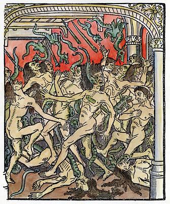 Hell Seven Deadly Sins Art Print by Granger