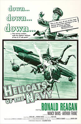 1957 Movies Photograph - Hellcats Of The Navy, Us Poster Art by Everett