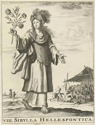 Hellespontic Sibyl, Jan Luyken, Timotheus Ten Hoorn Art Print