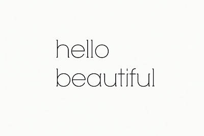 Mint Digital Art - Hello Beautiful by Chastity Hoff