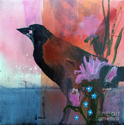 Painting - Hello Crow by Robin Maria Pedrero