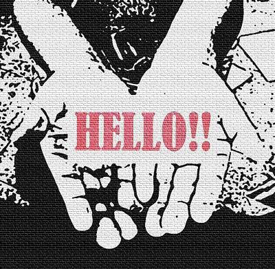 Eliso Digital Art - Hello by Eliso Ignacio Silva Simancas