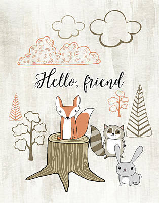 Nursery Painting - Hello Friend by Tara Moss