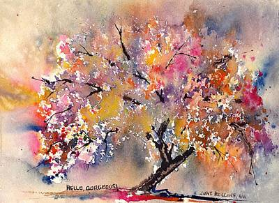 Painting - Hello Gorgeous by June Rollins