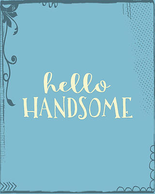 College Girls Wall Art - Painting - Hello Handsome Plus by Tara Moss