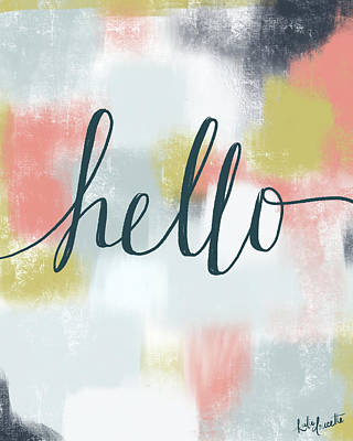 Hello Painting - Hello by Katie Doucette