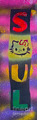 Music Paintings - Hello Soul Kitty by Tony B Conscious