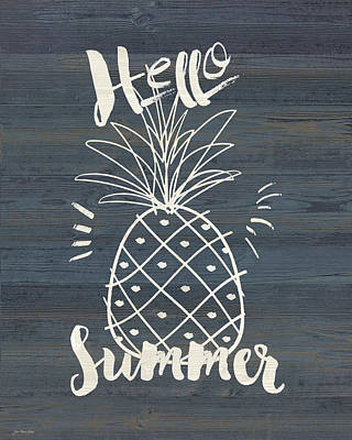 Pineapple Wall Art - Painting - Hello Sumer by Jo Moulton