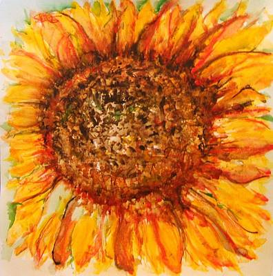 Hello Sunflower Art Print