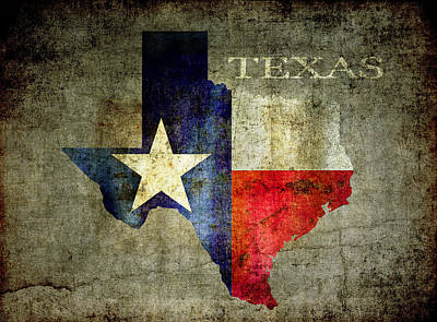 Red White And Blue Digital Art - Hello Texas by Daniel Hagerman