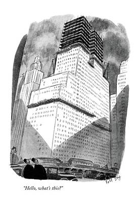 Architecture Drawing - Hello, What's This? by Robert J. Day