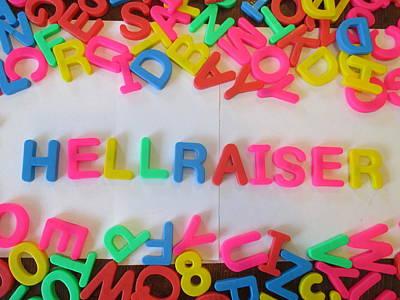 Hellraiser - Magnetic Letters Art Print by David Lovins