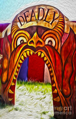 Painting - Hells Mouth by Gregory Dyer