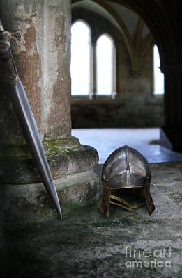 Photograph - Helmet And Sword by Jill Battaglia