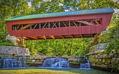 Music Royalty-Free and Rights-Managed Images - Helmick Mill or Island Run Covered Bridge  by Jack R Perry