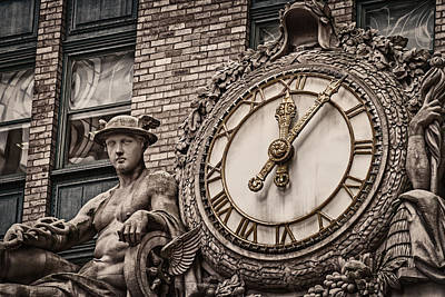 Print featuring the photograph Helmsley Building Clock by James Howe