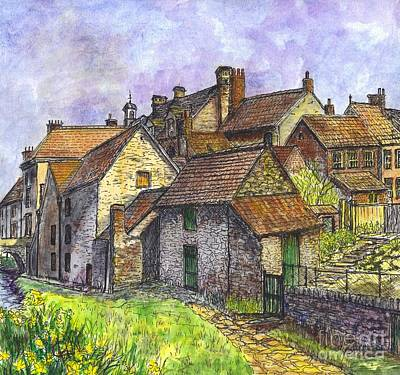 Painting - Helmsley Village -  In Yorkshire England  by Carol Wisniewski