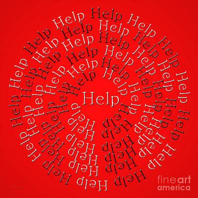 Digital Art - Help 1 by Andee Design
