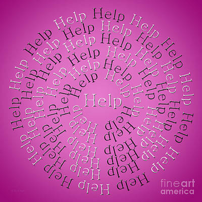 John Digital Art - Help 3 by Andee Design