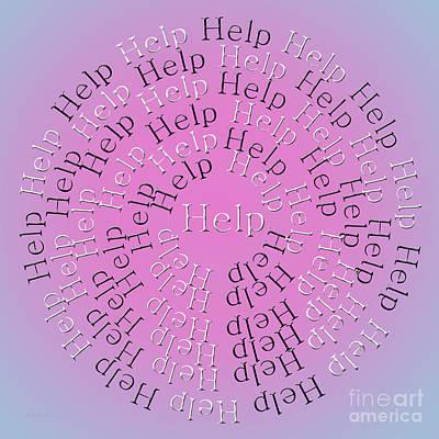 Digital Art - Help 4 by Andee Design