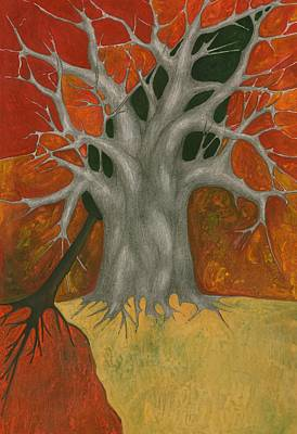 Abstract Tree Painting - Help Me by Wojtek Kowalski