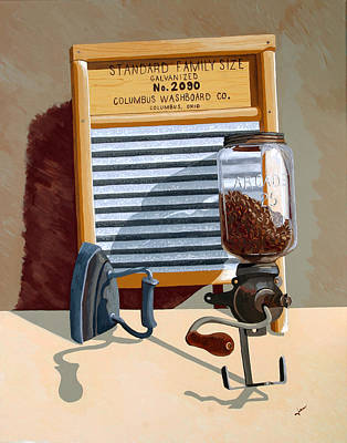 Washboard Painting - Help Wanted by Jennifer  Donald