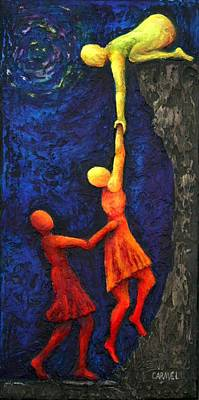 Night Out Painting - Helping Hand by Linda Carmel