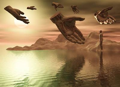 Digital Art - Helping Hands by John Alexander