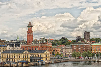 Halls Harbour Photograph - Helsingborg City Center by Antony McAulay