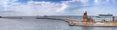 Helsingborg Photograph - Helsingborg Port Panorama by Antony McAulay
