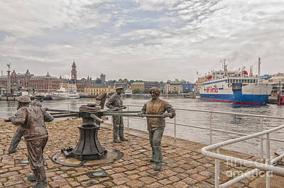 Door Locks And Handles - Helsingborg Sailors Monument by Antony McAulay